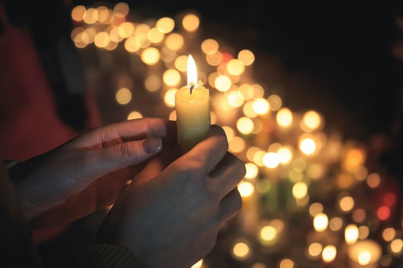 Candle in hand