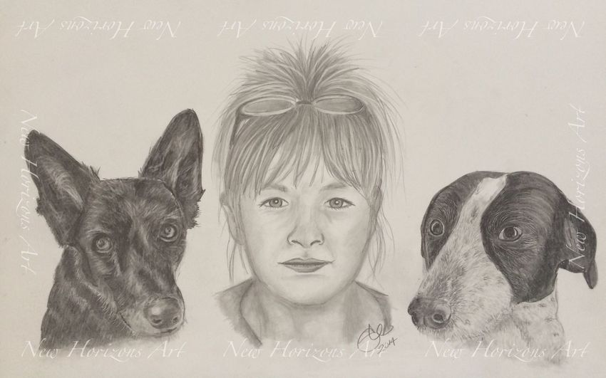 My latest commission Portrait Art #illustration #drawing #draw #tagsforlikes #picture #photography #artist #sketch #sketchbook #paper #pen #pencil #artsy #in Dog Myartwork