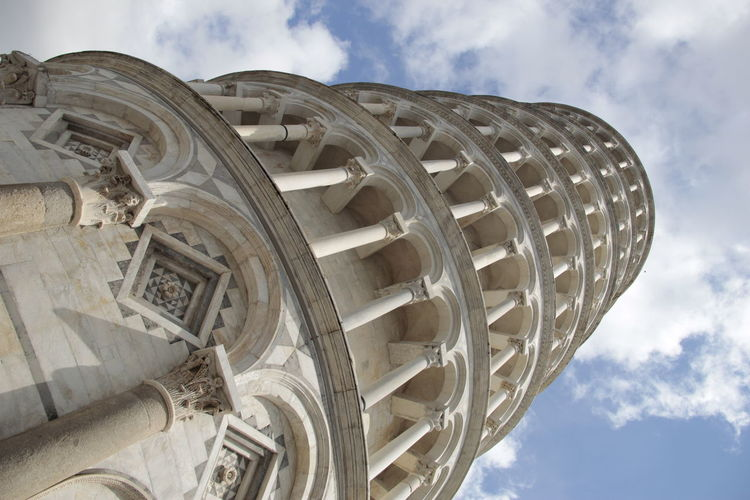 Leaning Tower Of Pisa Against Sky In City