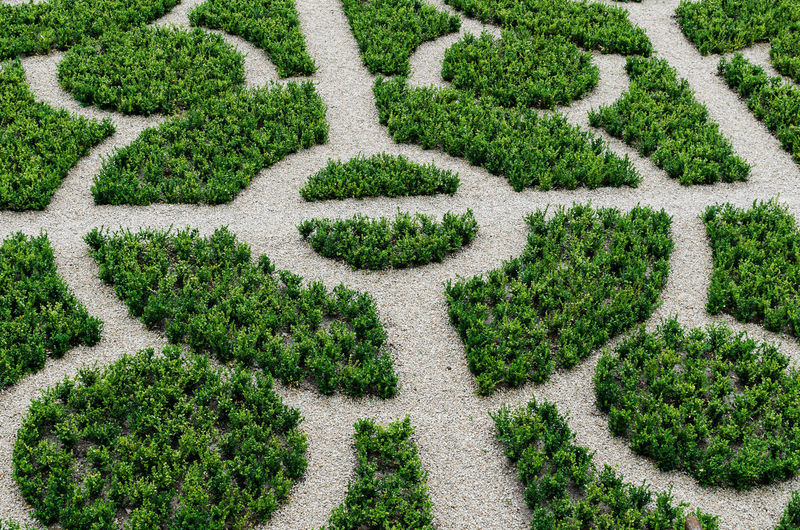 Garden maze in germany from above
