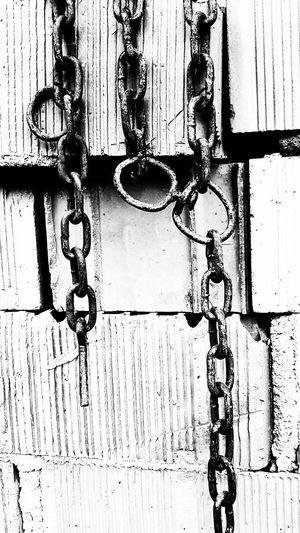 Istanbul Zincir Duvar Tuğla Blackandwhite Sınır Full Frame Chain Backgrounds Close-up