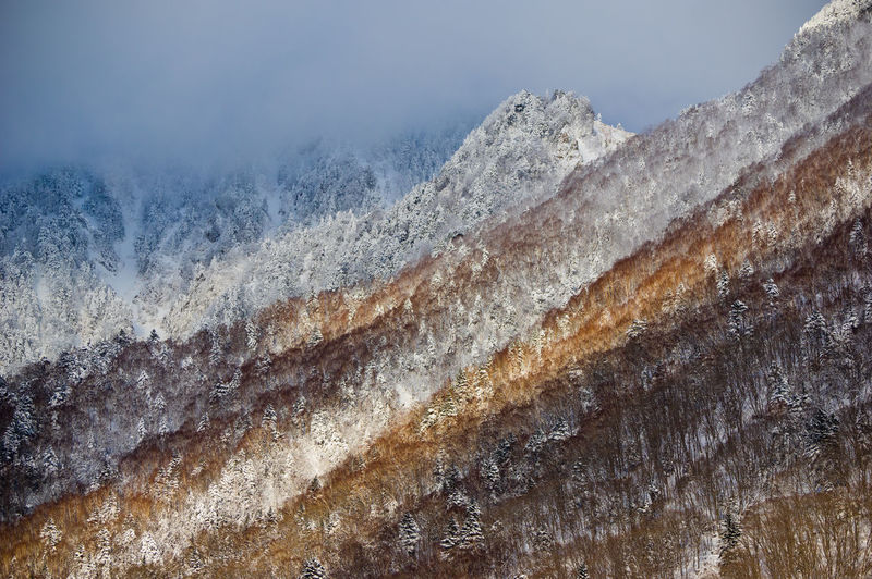 No People Mountain Scenics - Nature Nature Beauty In Nature Tranquility Tranquil Scene Day Non-urban Scene Environment Land Snow Winter Cold Temperature Landscape Remote Geology Outdoors Mountain Range Japan Alps Japan Photography Japan Snow Mountain Sunlight Pentax