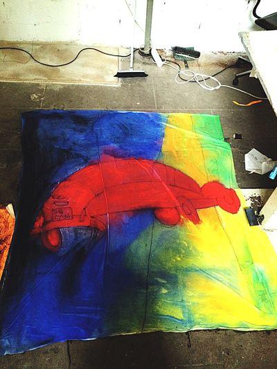 Labo DTF - 2005 - travail en cours d'éric Deloeuvre ArtWork Peinture Labo DTF