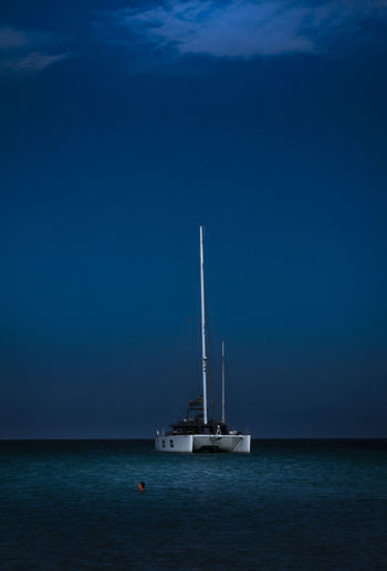 Blue Day Horizon Over Water Mast Moonlight Nature Nautical Vessel Night No People Outdoors Sailboat Sailing Sailing Ship Scenics Sea Sky Tall Ship Transportation Water Yacht Yachting EyeEm Ready   EyeEm Best Shots EyeEm Gallery The Traveler - 2018 EyeEm Awards