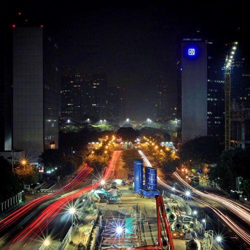 Jakarta Jakartaneversleep Taking Photos Darkness And Light Enjoying Life Jakartapembangunan