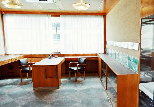 EyeEm Selects Bata' s Elevator-office in Zlin, Czech republic Indoors  Office Space Office Workplace Table Chair Wood - Material Simplicity Design Interior Interior Views Interior Style Interior Design Design Furniture Design Lifestyles Architecture Architectural Feature Building Story The Week On EyeEm