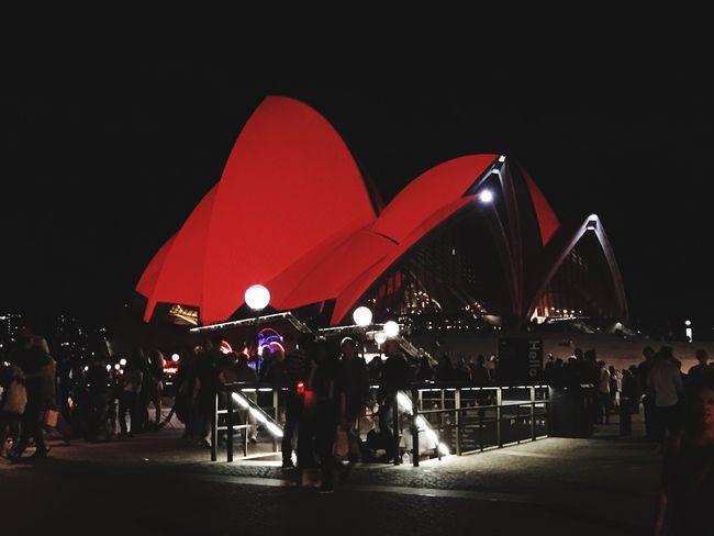 Lit up for Chinese New Year Operahouse Sydney, Australia Architecture Lifestyles EyeEm The Human Condition Illuminated