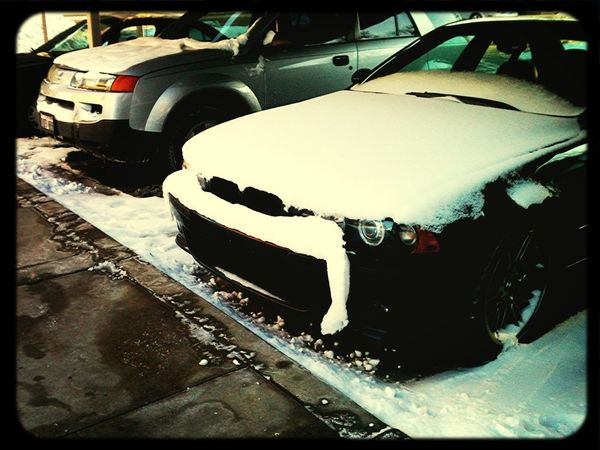 Colty's Poor #e39m5 Has A Snowstache. #e39m5problems