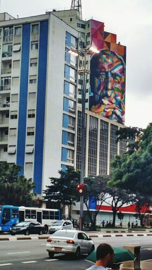 Grafitti Grafiti Art KobraStreetArt EduardoKobra Oscar Niemeyer Building Street Photography Daylight