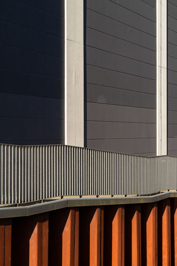Architecture Built Structure Building Exterior Sunlight Pattern No People Day Building Wall - Building Feature Outdoors Metal Shadow Nature Window Railing Blinds Sunny Modern City Brown Corrugated