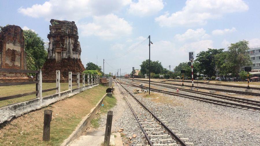 Phra Prang Sam Yot Sky Day Outdoors No People Travel Destinations Temple Train Station Lopburi Thailand