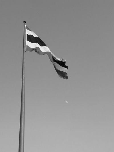 Thai Flag Rip Beloved KingBhumibhol Condolence BlankNwhite Low Angle View