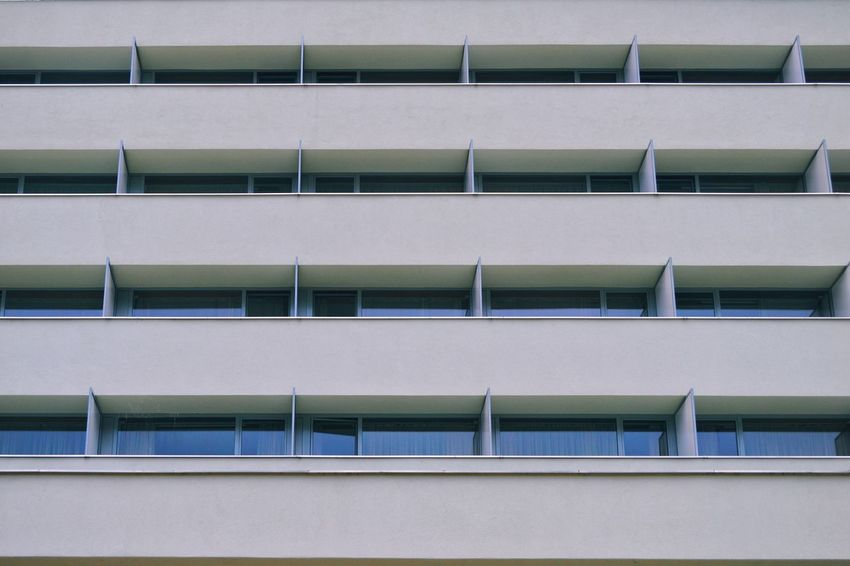 Architecture_collection Architecturelovers Balconies Repetition Full Frame White Color Simplicity Urban Urbanphotography City Architecture Building Exterior Built Structure Architectural Feature Architectural Design Architectural Detail Building Exterior