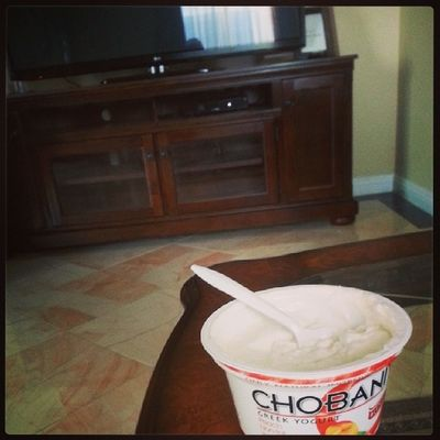 Oh you know just relaxing...Chobani Greekyogurt Homesweethome Debating on night hiking again to the hilltop house :)