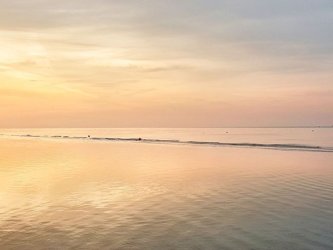 | Sunrise | Sunrise RedSky Bibione Pineda EyeEmItaly Water Low Tide Sea Beach Sand Sun Blue Reflection Salt - Mineral Seascape Romantic Sky Atmospheric Mood Moody Sky Standing Water