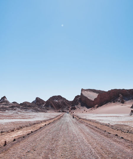 Moon valleys main road, decorated by its stunning rock formations.