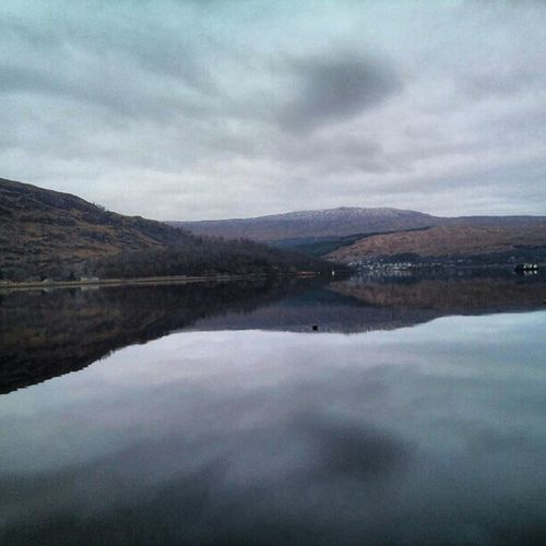 'Perfect' LochLomond Scotland Reflection Water Scenery Hills Cloudporn Clouds skyporn Sky photography instagram