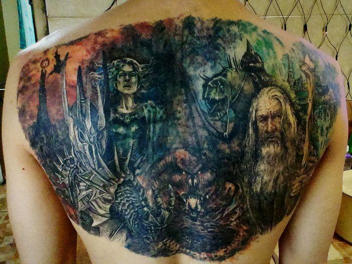 My back. Моя