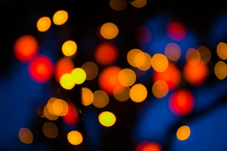 Defocused Illuminated Night Multi Colored Lighting Equipment No People Light Effect Light Spotted Abstract Close-up Backgrounds Nightlife Outdoors