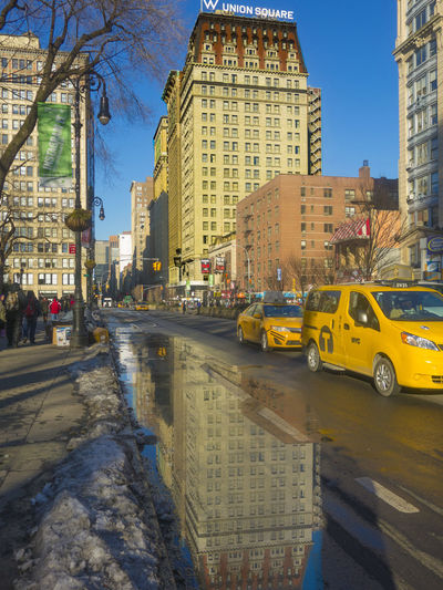 Manhattan - New York City Built Structure Architecture City Taxi City Street Reflection After The Rain My Best Photo