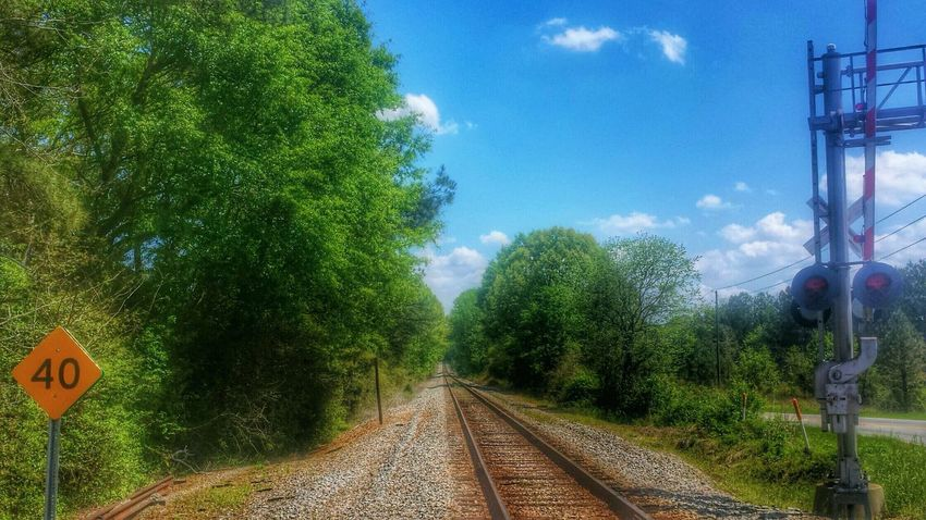 Endless Tracks -- Endlessness Train Tracks Trees Sky Sky Collection Clouds And Sky HDR Hdr_Collection The Great Outdoors - 2015 EyeEm Awards