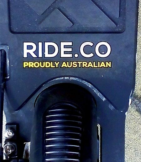 Australianmade RIDEscooters SIGN. Signs Adelaide, South Australia Electric Scooter Commercial Signs E-scooters Australian Australia Aussie Aussie Aussie, Oi Oi Oi I Come From A Land Down Under Australian Made Ride.co Communication Text Close-up Information Western Script