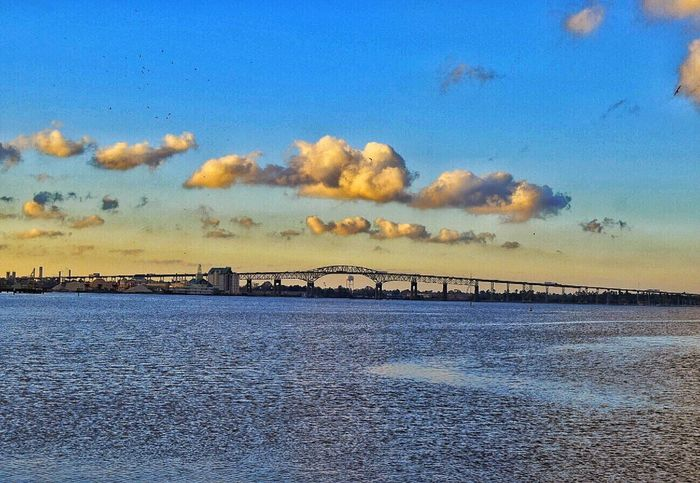 Sky Water Cloud - Sky Beauty In Nature Scenics Nature Architecture Bridge - Man Made Structure Bridge Structure Lake Charles