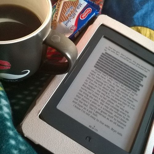 Mornings are better with coffee 🍵 and a good book 📚 Whereshewent Canyoube My Coffeepot