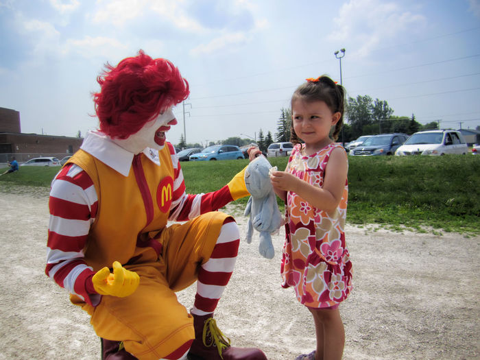 The Look Says It All Child Creepy Funny Girl Haha LOL Look Mcdonalds