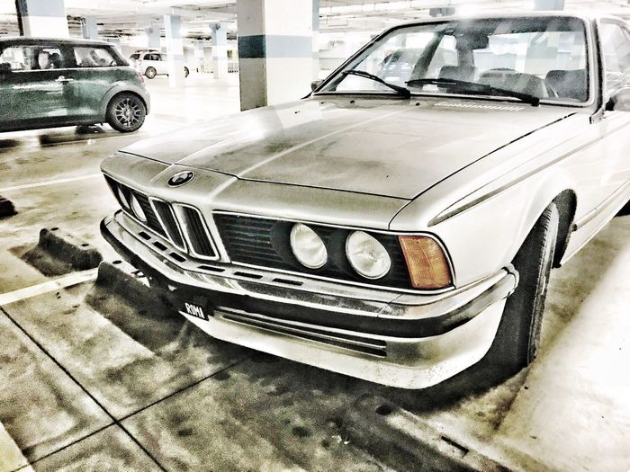 BMW 635 1980 Old Bmw Bmw 635 Csi Bmw Car Car Motor Vehicle Mode Of Transportation Land Vehicle Transportation No People Day Retro Styled Old Auto Post Production Filter High Angle View Stationary Metal