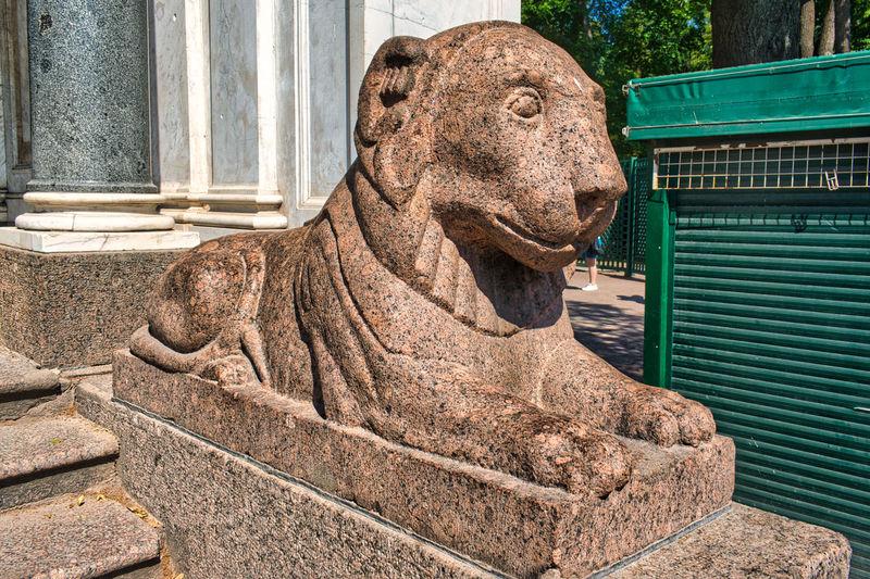 Close-up of a horse statue
