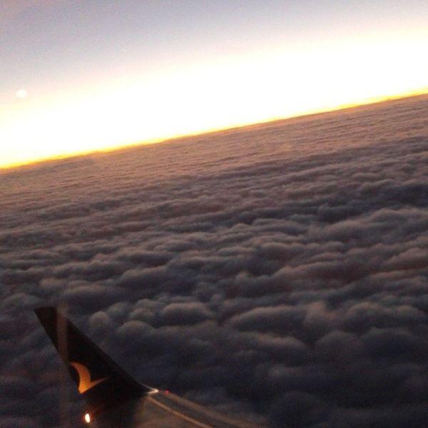 Anadolu Jet :) Anadolujet Fly U çak G ökyüzü bulut günbatımı