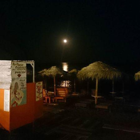 Moon Beach Seaside Perissa Santorini Greece