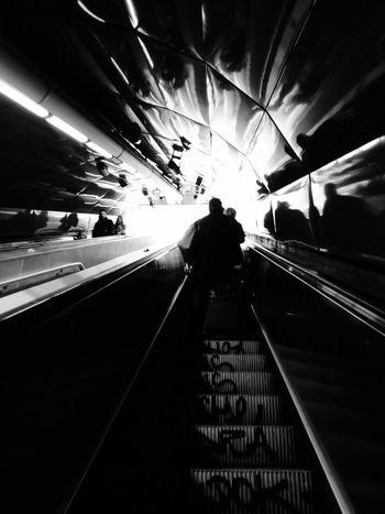 Taking Photos Streetphotography Underground Highwaytoheaven Blackandwhite Lightandshadow