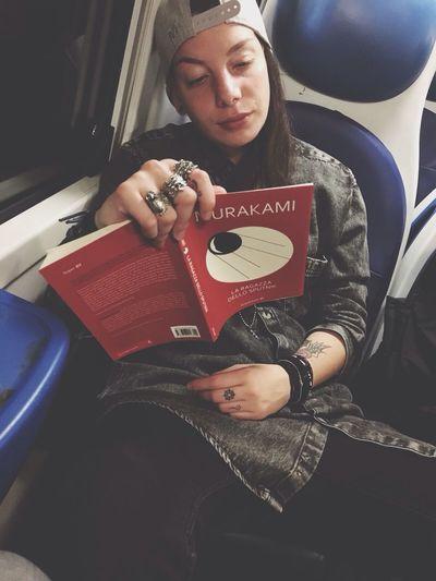 Haruki Murakami Girl Underground Train