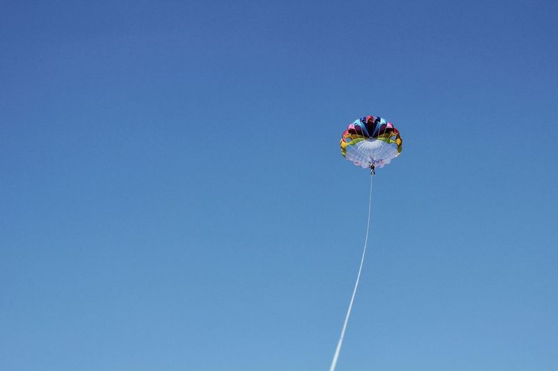 Loa Angle View Of Parachute In Air Against Clear Sky
