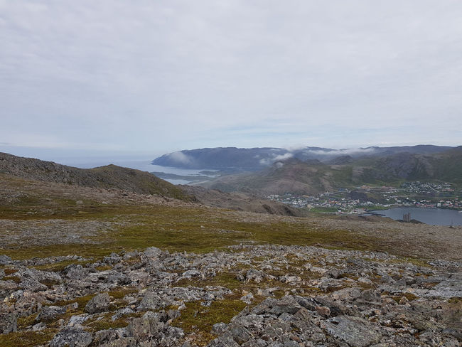 Honningsvag Norway Arctic Circle Beauty In Nature Cloud - Sky Day Environment Idyllic Land Landscape Mountain Nature No People Non-urban Scene North Cape Outdoors Power In Nature Remote Rock Scenics - Nature Sky Solid Tranquil Scene Tranquility Water