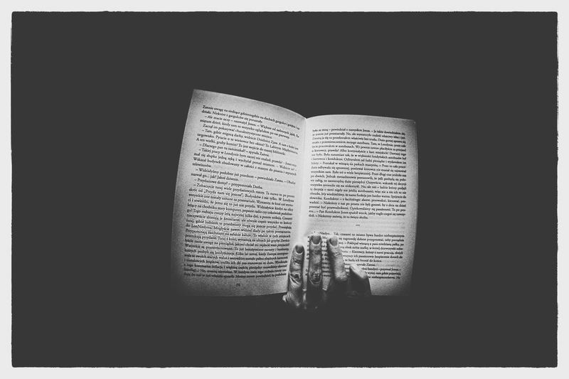 Darkness And Light Book Książka Contrast White Frame Black And White Friday