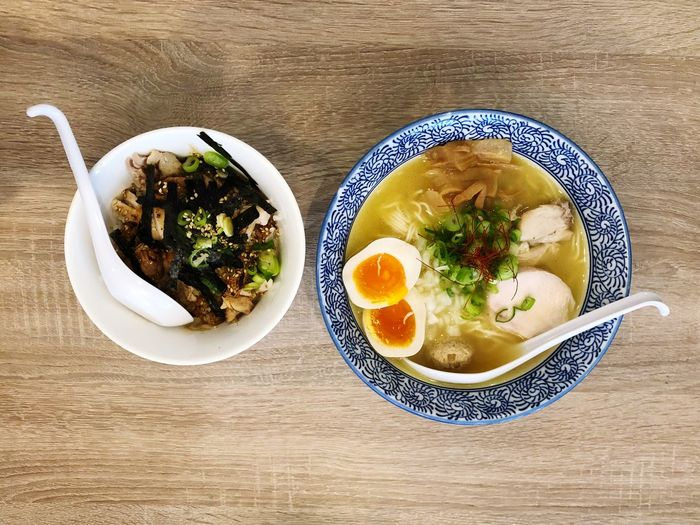 Ramen makes life better Teriyakichicken Rice Chicken Ramen Noodle Ramen Food And Drink Ready-to-eat Indoors  Table Freshness Food Bowl Plate Healthy Eating No People Garnish Vegetable Soup Close-up High Angle View