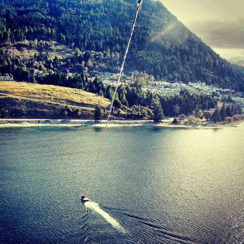 Travel New Zealand Wakatipu Lake Queenstown NZ Mypointofview Flying High Parasailing Nature View Enjoying Life Light Natural Beauty Peace And Quiet Captured Moment Discovernewzealand People Of The Oceans The Great Outdoors - 2016 EyeEm Awards