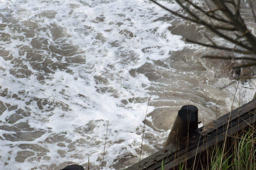 High Angle View Nature No People Power In Nature Rough Rough Sea Rough Waters Sea Storm Storm Surge Water Wave