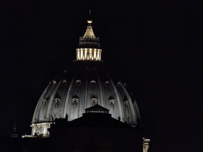 Saint Peter's Basilica Via Trionfale View St Peter Night View Rome, Italy View From The Window...