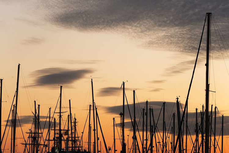 Sailboat Against Sky During Sunset