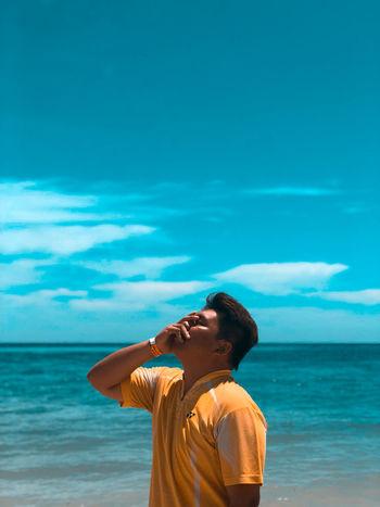 Sea Child Water Beach Smiling Horizon Portrait Boys Sand Summer Shore Seascape Wave Human Back Surfer Backache Ocean Water Sport Tide Seashore Surfboard Crashing Surf Coast Rocky Coastline Scenics Back Rushing Coconut Palm Tree Straw Hat