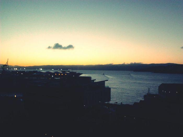 Got to work just b4 sunrise #morningview Fab morning tweeps