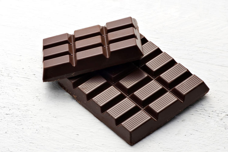 Close-up of chocolate on wooden table