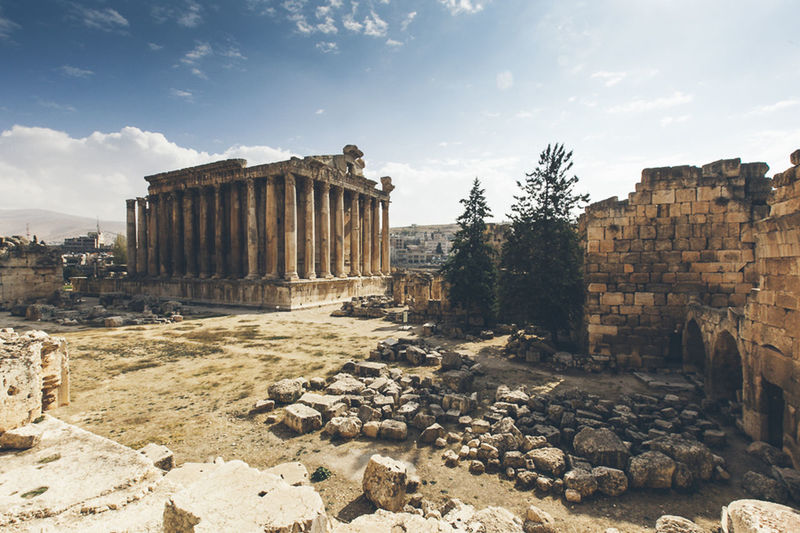 Ancient History Architecture Baalbek Building Exterior City Day History Lebanese Lebanon No People Outdoors Roman Ruins Sky Travel Destinations