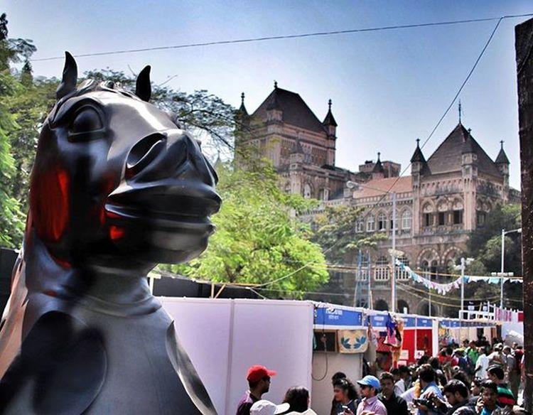 Blackhorse Sculpt Kalaghodafestival Kalaghoda 2016 Mumbai India Streetview Artfestival