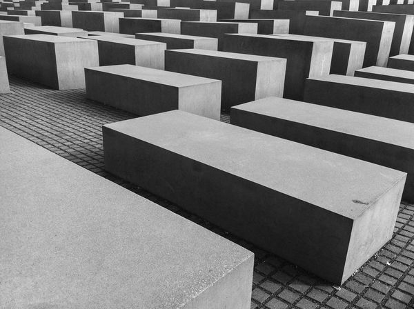 Holocaust Memorial Black And White Blocks Concrete History Holocaust Holocaust Memorial No People Order Regular