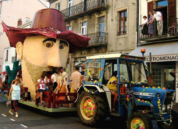 Festival Season Gargantua Lozère France Occitanie Carnaval Char City Architecture Building Exterior Built Structure